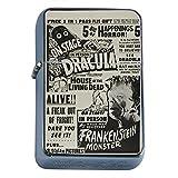Silver Flip Top Oil Lighter Vintage Poster D-038 Vintage Horror Show Ad