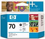 HP 70 Photo Printheads for Photosmart Pro B9180 Printers, Black and Light Gray, Office Central