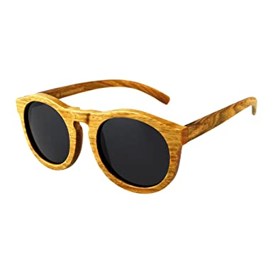 Gafas de Sol de Madera de Sándalo - Estilo Moscot - - 100 ...