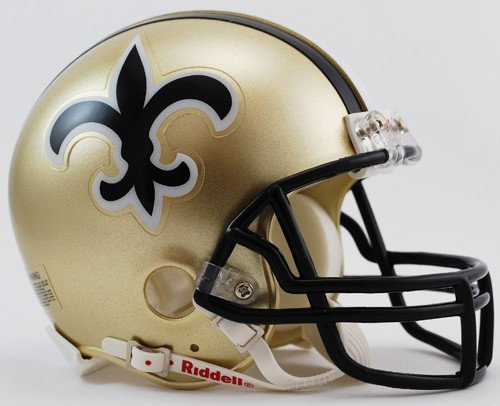 Helmet 1999 Football - New Orleans Saints 1976-1999 Throwback Riddell Mini Football Helmet