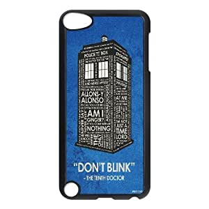 Doctor Who Series, Ipod Touch 5 Cases, Doctor Who Quotes Inspiration Don't Blink Cases For Ipod Touch 5 [Black]
