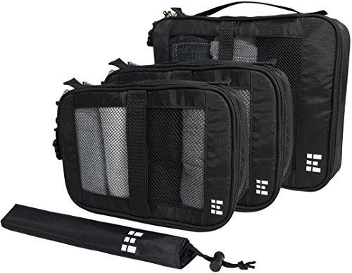 Packing Cubes Travel Organizer Set w/Shoe Bag (Rubix Cube Storage Bag)