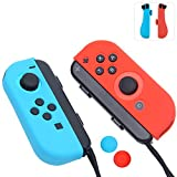 Joy-Con Gel Guards with Thumb Grips Caps for Nintendo Switch (Blue+Red) Review