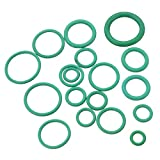 SINOCMP 270PC Green Rubber O-Ring Assortment Kit Performance Tool with 18 Popular Sizes for Insulation Gasket Washer Seals Air Conditioning Car Auto Vehicle Repair