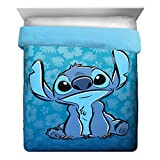 Disney Lilo & Stitch Ohana Full/Queen Comforter - Super Soft Kids Reversible Bedding features Stitch - Fade Resistant Polyester Microfiber Fill (Official Product)