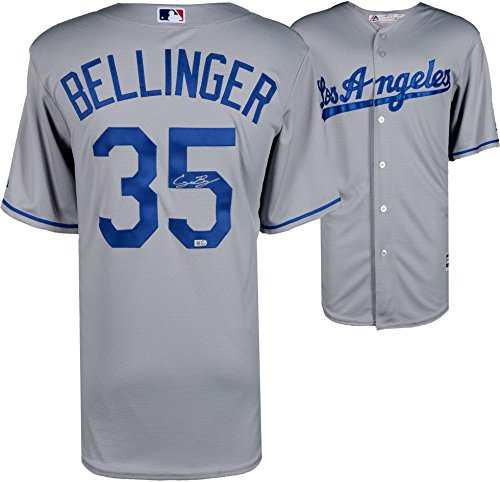 Replica Authentic Jersey - Cody Bellinger Los Angeles Dodgers Autographed Majestic Gray Replica Jersey - Fanatics Authentic Certified