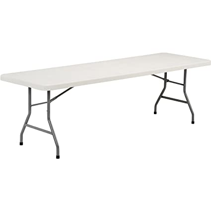 Amazoncom Foot Plastic Folding Table Office Products - 8 foot office table