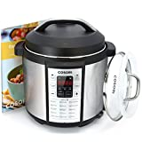 Cosori 7-in-1 Multi-Functional Pressure Cooker with Glass Lid and Sealing Ring, 6Qt / 1000W