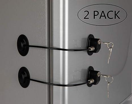 Amazon.com: REZIPO NEGRO - Juego de 2 cerraduras para puerta ...