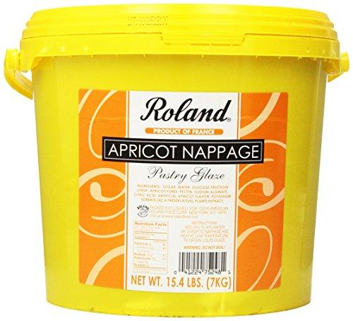 Roland Apricot Nappage Pastry Glaze, 15.4-Pounds Pail -