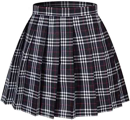 Beautifulfashionlife Women's Japan high Waisted Pleated Cosplay Costumes Skirts