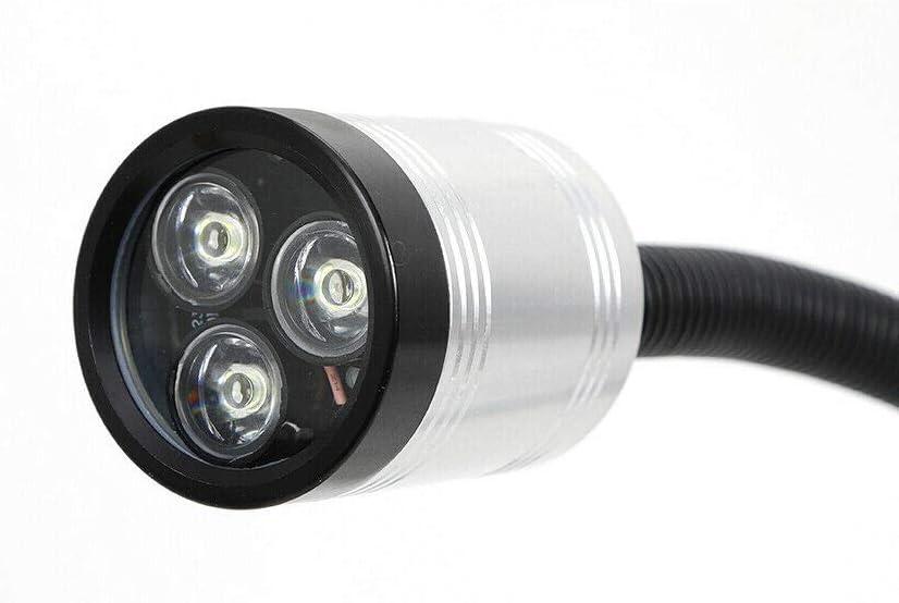 lampe de travail /à col de cygne rond /étanche HaroldDol Lampe rotative /à LED pour machine /à outils base magn/étique flexible bras long 6 W 110 V-220 V