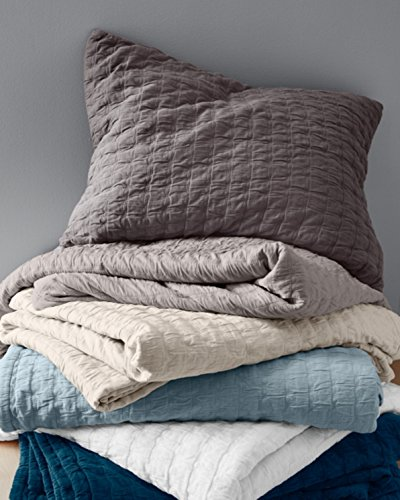 Attractive Eileen Fisher Rippled Organic Cotton Coverlet   Queen   Oyster Gray