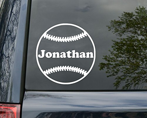 Minglewood Trading Baseball Vinyl Decal Sticker with Custom Personalized Name 5