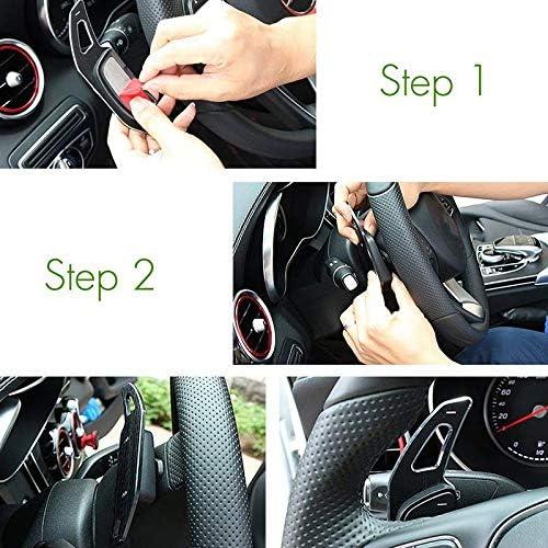 Classe GLC X253 Noir Classe E W213 GLE Casinlog Accessoires de Voiture Extension de Palette de Changement de Volant pour Mercedes Classe C W205