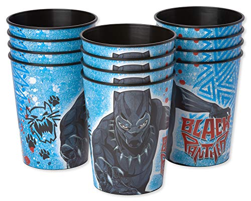 Amscan Marvel Black Panther Cup, Party Favor, Standard, Multicolor