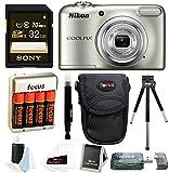 Nikon Coolpix A10 Digital Camera with 32GB Card + Batteries and Bundle