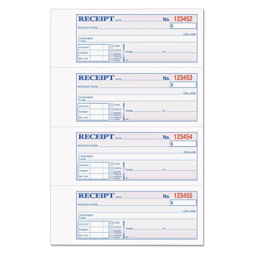 TOP46808 - TOPS Money/Rent Receipt Book