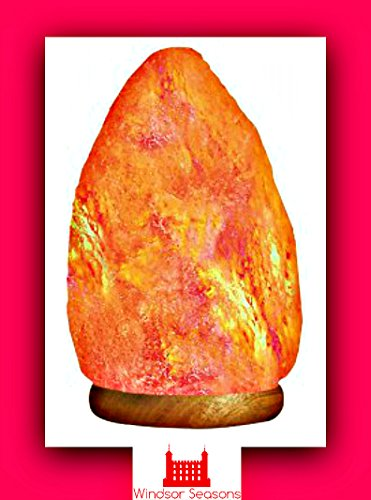 Evidence For Salt Lamps : Windsor Seasons Hand Crafted Natural Large 9-Inch Crystal Himalayan Salt Lamp with Neem Wood ...