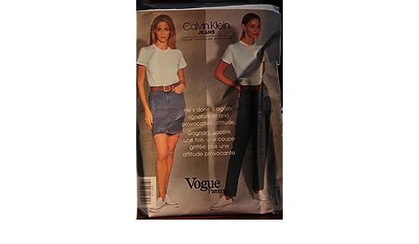8571bb1b83c Vogue Pattern 2850 Size 4-6-8   Calvin Klein Jeans   Misses  Skirt   Jeans   Vogue  Amazon.com  Books