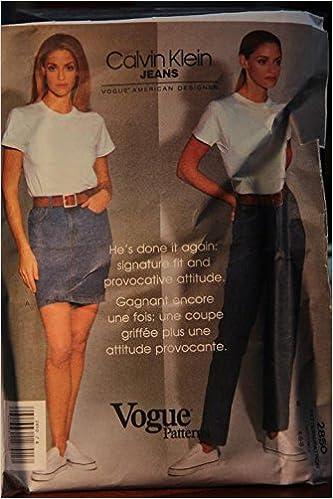 7a96a970e02 Vogue Pattern 2850 Size 4-6-8   Calvin Klein Jeans   Misses  Skirt   Jeans  Paperback – 1969