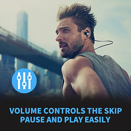 Bluetooth Headphones, Ylnnaeh Sports Wireless Earbuds Apt-X HD Stereo V4.1 Earphones for Sports Running Out Travel Mic/IPX7 Charging Case Bluetooth Headset Earphones S128 (Black)