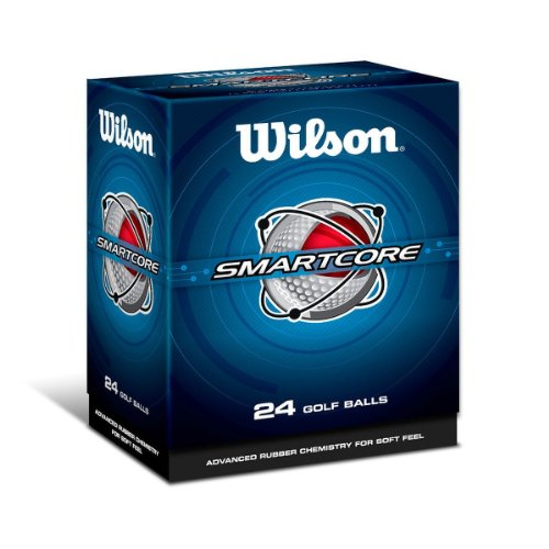 Wilson Smart Core Golf Ball - Pack of 24 (White) (24k Golf)