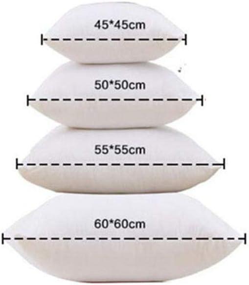 Leisial Coussins en Coton Coussins de garnissage Doux Coussin Decoration pour Canap/é Blanc 35X55cm