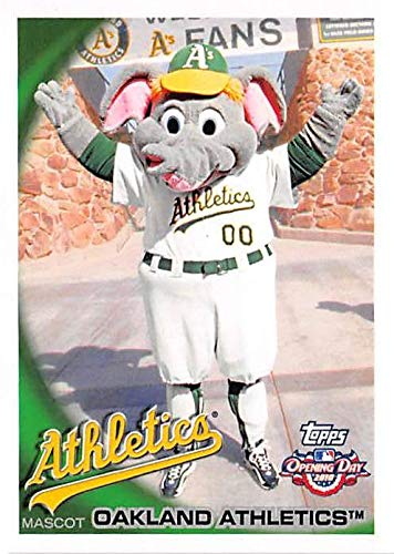 Oakland Athletics Mascot Stomper baseball card 2010 Topps Opening Day #M16 Insert Edition