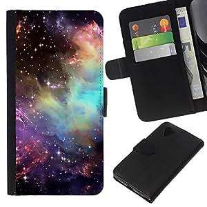 Planetar® Modelo colorido cuero carpeta tirón caso cubierta piel Holster Funda protección Para LG Nexus 5 D820 D821 ( Universo Cosmos Estrellas Awe Inspiring )