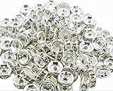 100 Pcs Swarovski Crystal Rondelle Silver Spacer Bead 6mm White
