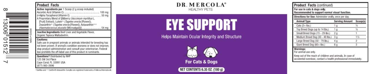Dr. Mercola, Eye Support, for Cats and Dogs, 6.35 oz (180 g), Non GMO, Gluten Free by Dr. Mercola