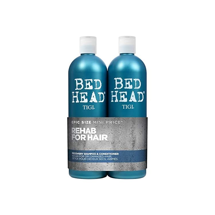 Bed Head By Tigi – 750ml Pack of 2 – Urban Antidotes Recovery Moisture Shampoo And Conditioner Set