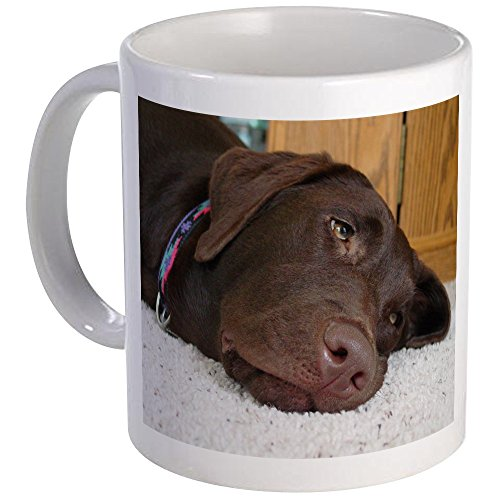 CafePress Chocolate Lab Thoughts Mug Unique Coffee Mug, Coffee Cup