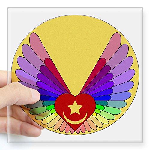 (CafePress Winged Heart Square Sticker 3