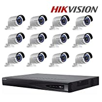 Hikvision Original English Outdoor CCTV Security System NVR DS-7616NI-E2/16P + Hikvision DS-2CD2042WD-I 4MP IP Camera + Seagate 4TB HDD (16 Channel + 12 Camera)