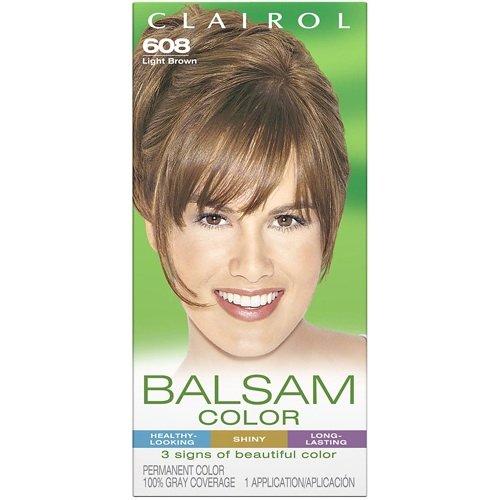 Cheap Clairol Balsam Hair Color - Light Brown (608)