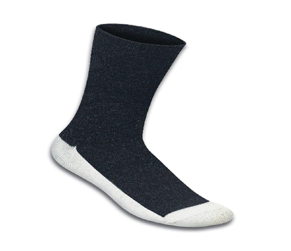Orthofeet Casual Dress Non-Binding Non-Constrictive Circulation Seam Free Bamboo Socks Black, 3 Pack Medium