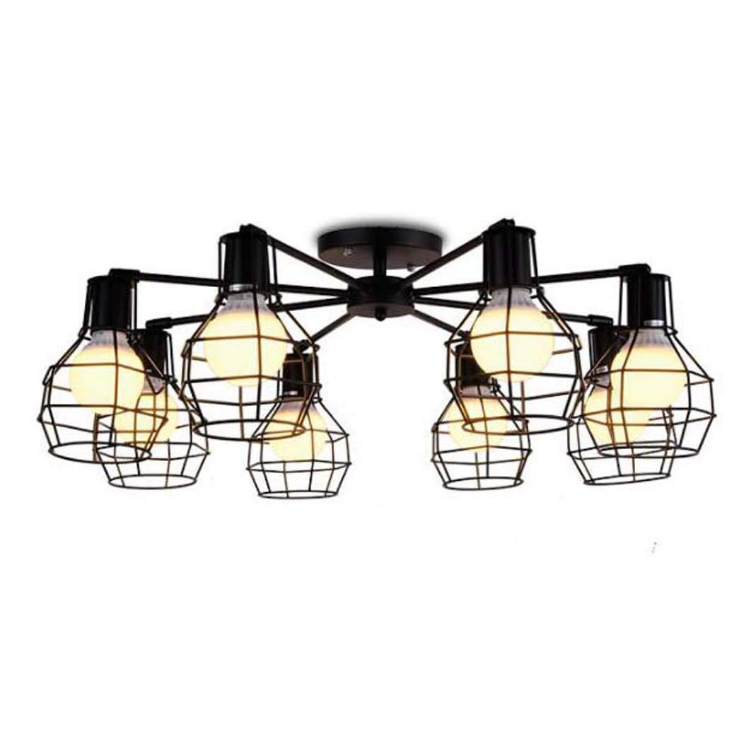 錬鉄製シーリングライトリビングルームライトホーム照明装飾アートライト8回転ランプシャンデリア B07SNHZH65