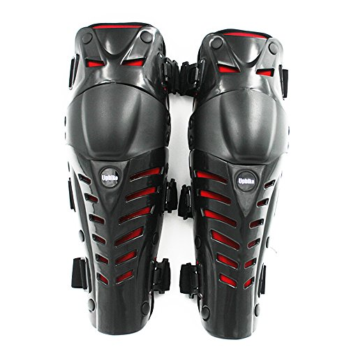 UPBIKE Adults Motorcycle Knee Pads Armor Protective Gear Guard Pads Motocross Racing kneepads use on legs (RED)