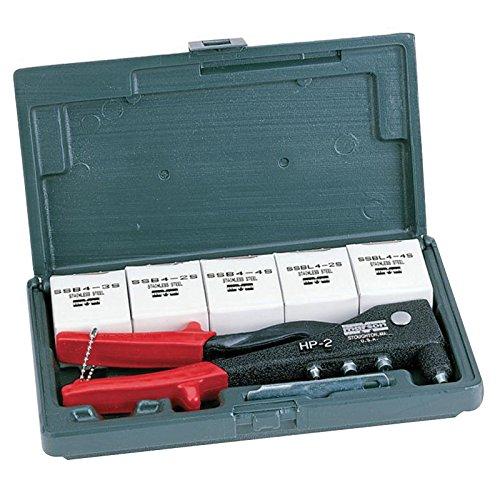 Marson M39003 HP-2 Rivet Tool Kit W/ HP-2 Tool & 200 Assorted Klik-Fast SST Rivets (1 PK)