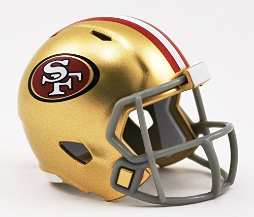 SAN FRANCISCO 49ERS NFL Cupcake / Cake Topper Mini Football Helmet]()