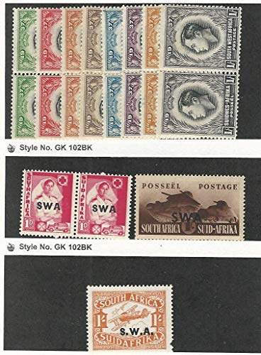 South West Africa, Postage Stamp, 125-132, 136, 142, C4 Mint Hinged, 1930-41