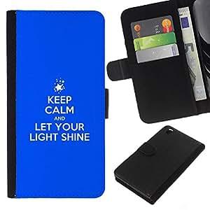 KLONGSHOP // Tirón de la caja Cartera de cuero con ranuras para tarjetas - BIBLIA Así alumbre vuestra luz - HTC DESIRE 816 //