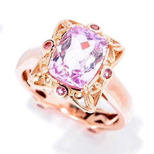 Kunzite Ring (Michael Valitutti 14k Rose Gold Kunzite and Pink Tourmaline Ring)