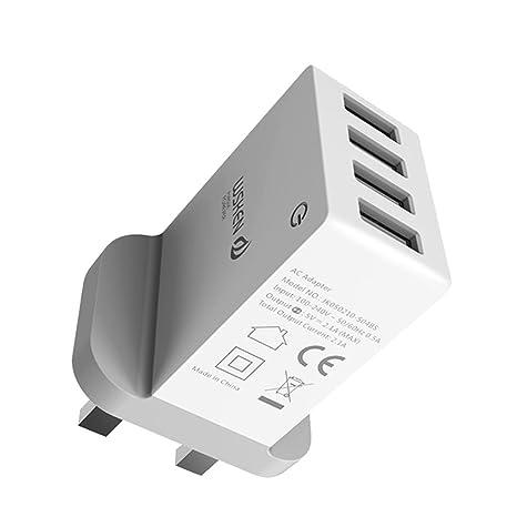 GOTTING WSKEN 5 V 2,1 A 4 Puertos Smart USB Cargador ...