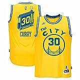 Stephen Curry Golden State Warriors Adidas Hardwood Classics Nights Swingman Jersey (Gold) Small