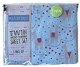 #Bedtime Festive Party Llamas 3 Piece Twin Novelty Sheet Set