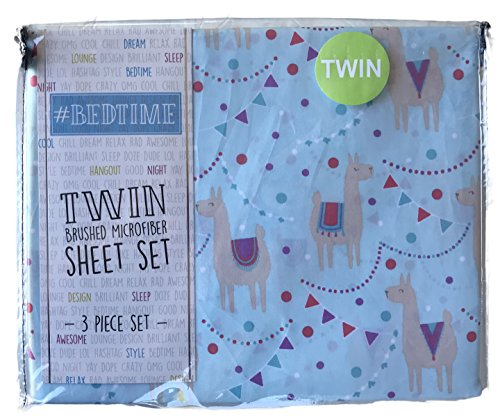 #Bedtime Festive Party Llamas 3 Piece Twin Novelty Sheet Set by Bed time