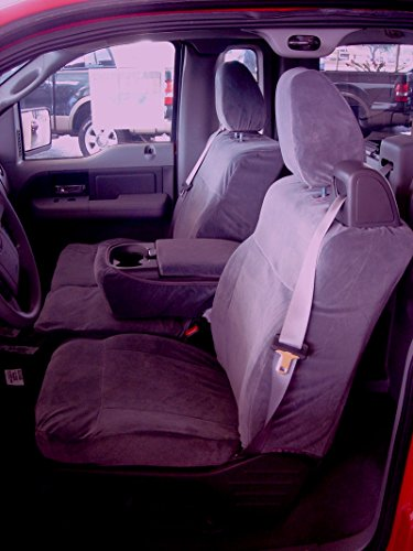 Durafit Seat Covers Made to fit Ford F150 XLT Supercab Front 40/20/40.Seat Belts Come from top of seat, NOT for Double CAB Brown Automotive Twill